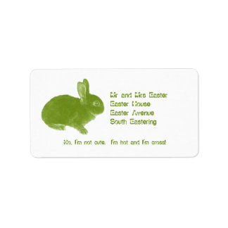 Hot Cross Bunny for Easter Label