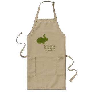 Hot Cross Bunny for Easter Long Apron