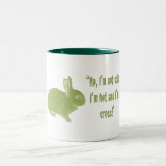 Hot Cross Bunny for Easter Two-Tone Coffee Mug