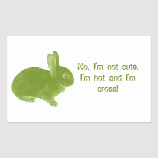 Hot Cross Bunny for Easter Rectangular Sticker