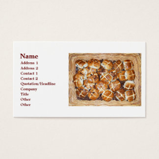 Hot Cross Buns Easter Basket #1 Business Card