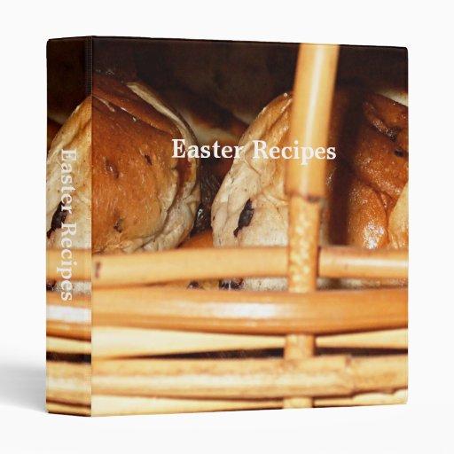 Hot Cross Buns Easter Basket #2 Vinyl Binder