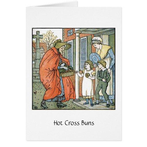 Hot Cross Buns, Greeting Card