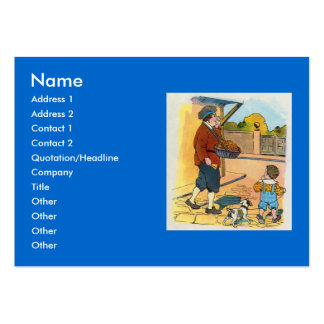 Hot-cross Buns!  Hot-cross Buns! Large Business Cards (Pack Of 100)