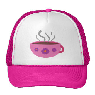 Hot Cup of Coffee Mesh Hats