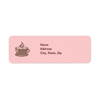HOT CUP OF COFFEE LABEL