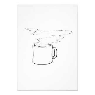 Hot Cup of Coffee Personalized Invite