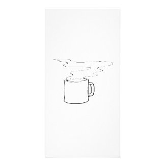 Hot Cup of Coffee Photo Greeting Card
