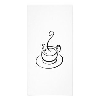 Hot Cup of Coffee Customized Photo Card