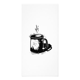 Hot Cup of Coffee Personalized Photo Card