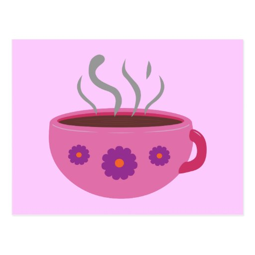 Hot Cup of Coffee Postcard