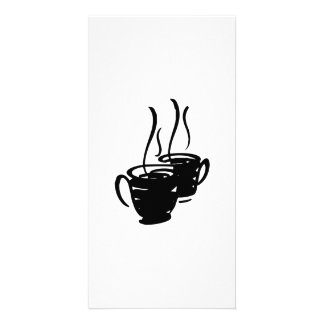 Hot Cups of Coffee Photo Cards