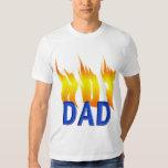 Hot Dad and Flames Shirts