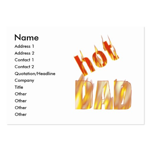 Hot Dad - Chubby Large Business Cards (Pack Of 100)