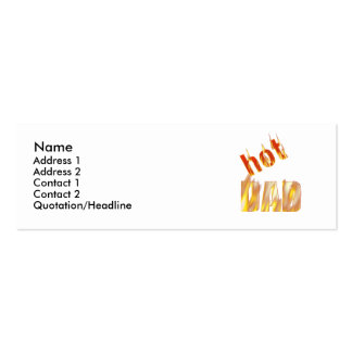 Hot Dad - Skinny Double-Sided Mini Business Cards (Pack Of 20)