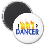 Hot Dancer and Flames Magnets