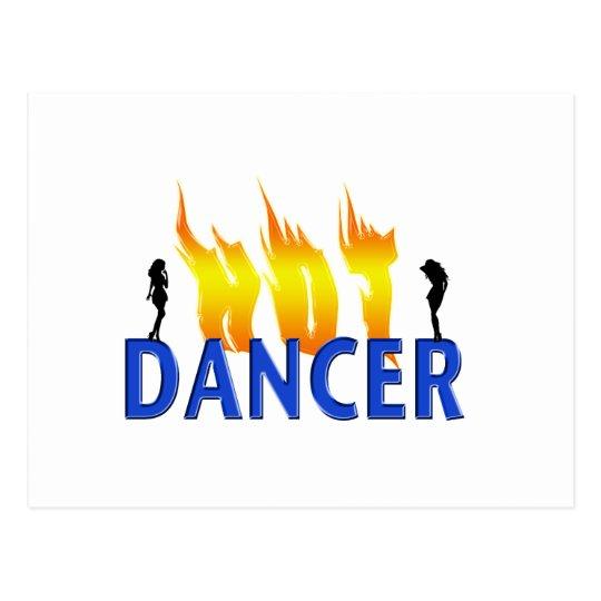 Hot Dancer and Flames Postcard
