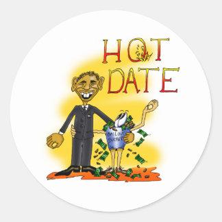 Hot Date Classic Round Sticker