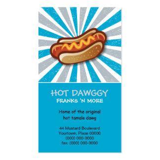 Hot Dawg Double-Sided Standard Business Cards (Pack Of 100)