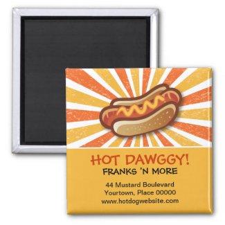Hot Dawg Promotional Magnet magnet