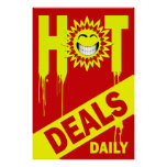 HOT DEALS DAILY - RETAIL POSTER SIGN