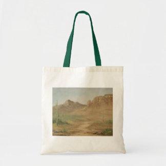 Hot Desert Landscape Tote Bag