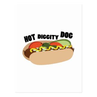Hot Diggity Dog Postcard