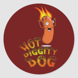 Hot Diggity Dog Sticker