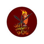 Hot Diggity Dog Wall Clock
