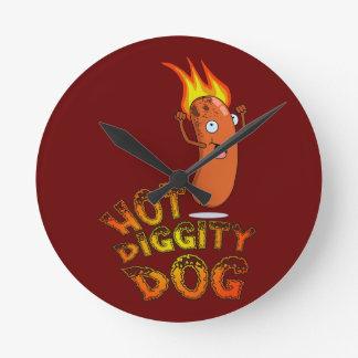 Hot Diggity Dog Wall Clock
