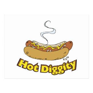 Hot Diggity ~ Hot Dog / Hot Dogs Postcard
