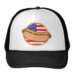 Hot Dog American Flag Mesh Hat