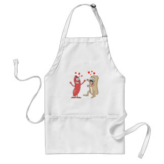 Hot Dog and Bun - Love at First Sight Adult Apron