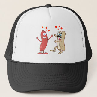 Hot Dog and Bun - Love at First Sight Trucker Hat
