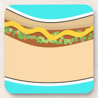 Hot Dog and Relish Drink Coaster