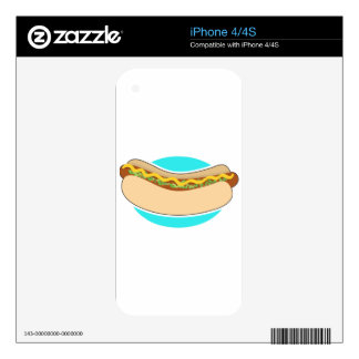 Hot Dog and Relish iPhone 4S Skins