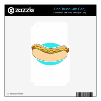Hot Dog and Relish iPod Touch 4G Skin