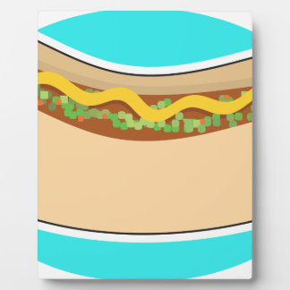 Hot Dog and Relish Plaque