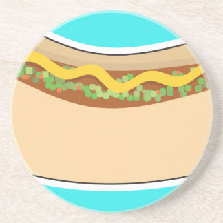 Hot Dog and Relish Sandstone Coaster