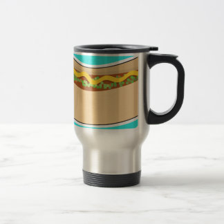 Hot Dog and Relish Travel Mug