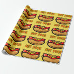 "Hot Dog Birthday Gift Wrapping Wrapping Paper<br><div class=""desc"">Hot Dog birthday gift wrapping! Visit Mini Brothers for more styles in this design at zazzle.com/minibrothers</div>"