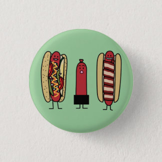 Hot dog bros. Chicago style Bacon wrapped wiener Button