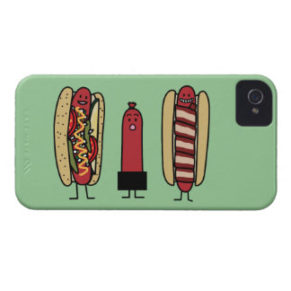 Hot dog bros. Chicago style Bacon wrapped wiener iPhone 4 Case-Mate Case