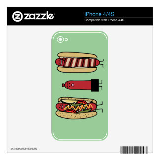 Hot dog bros. Chicago style Bacon wrapped wiener Skin For iPhone 4