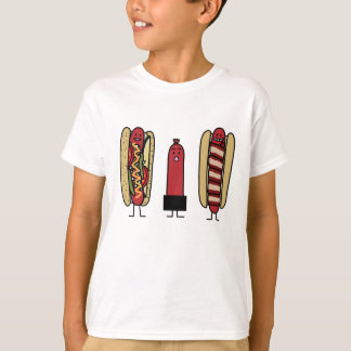 Hot dog bros. Chicago style Bacon wrapped wiener T-Shirt