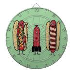 Hot Dog Bros Dartboard