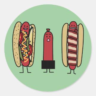 Hot Dog Bros Round Sticker