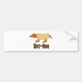 Hot Dog Bumper Sticker