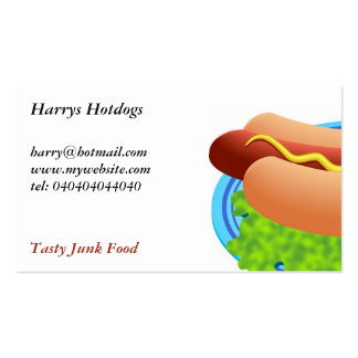 Hot Dog Double-Sided Standard Business Cards (Pack Of 100)