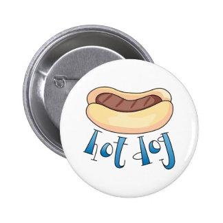 Hot Dog Pinback Button